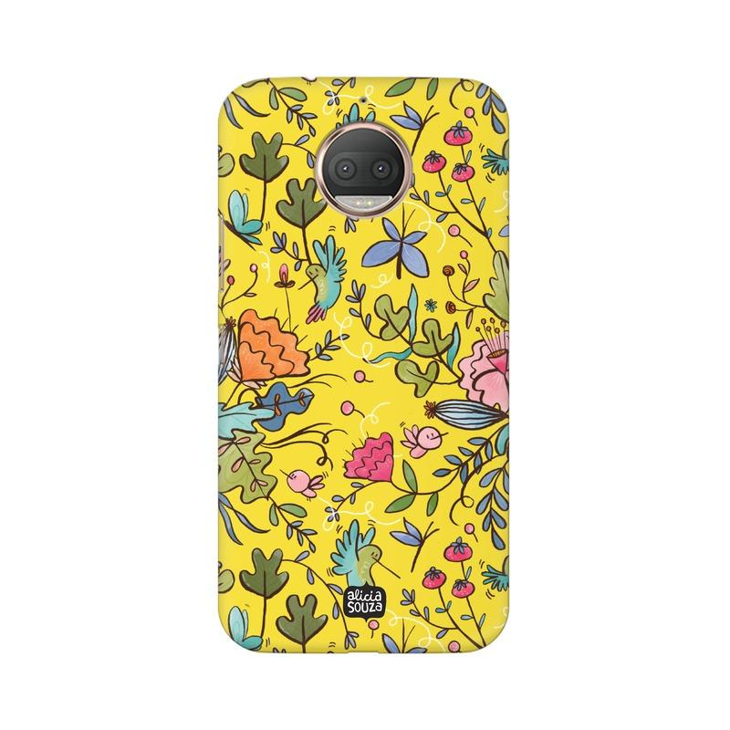Humming Bird - Yellow - Moto E4+ Phone Cover