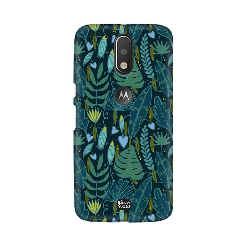 Green Leaves - Moto G4+ Phone Cover