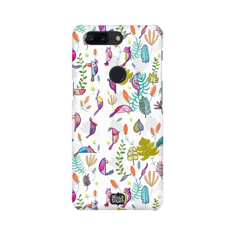 Parrots and Peace White - OnePlus 5T Phone Cover