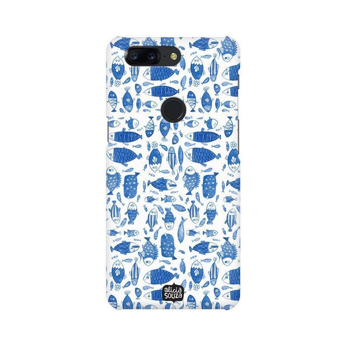 China Blue Fish - OnePlus 5T Phone Cover