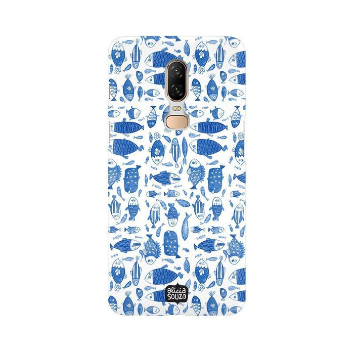 China Blue Fish - OnePlus 6 Phone Cover
