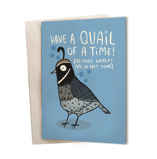 Quail of a Time Greeting Card