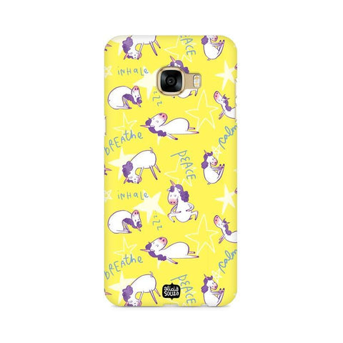 Yoga Unicorn - Samsung Galaxy C7 Pro -  Phone Cover