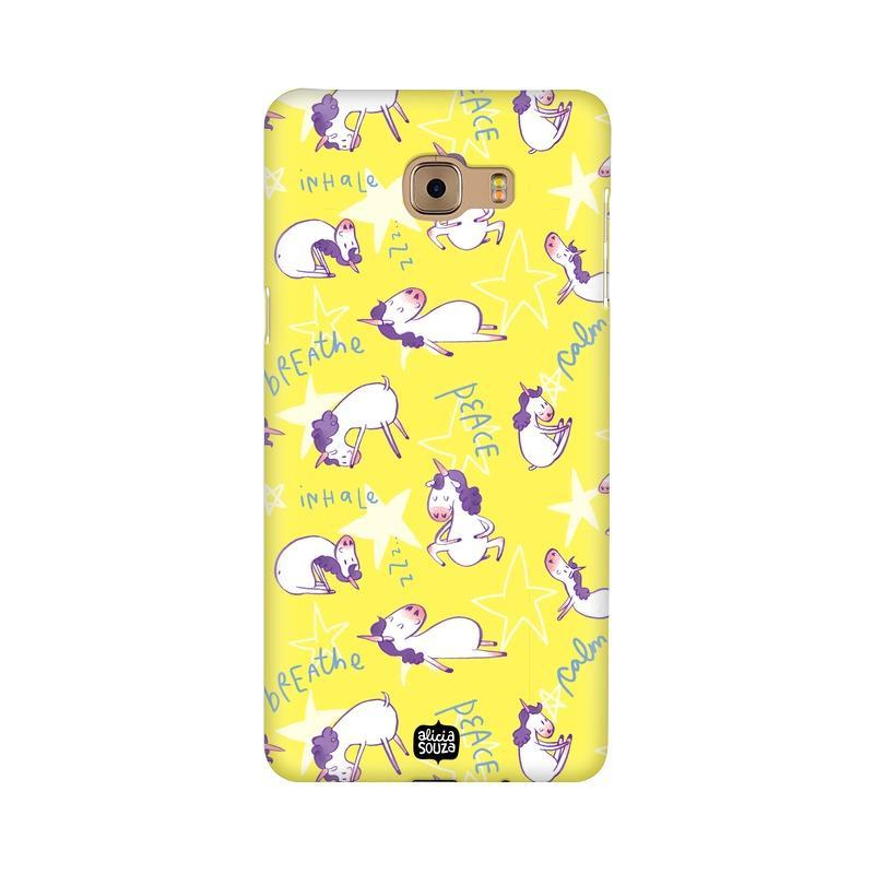 Yoga Unicorn - Samsung Galaxy C9 Pro -  Phone Cover