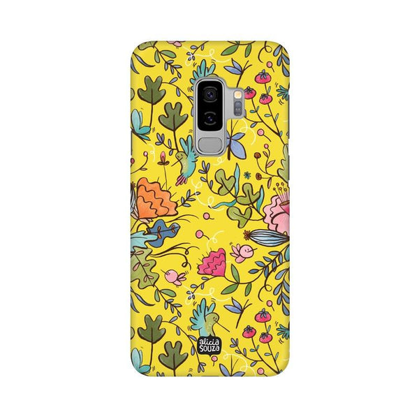 Humming Bird - Yellow - Samsung S9+ Phone Cover