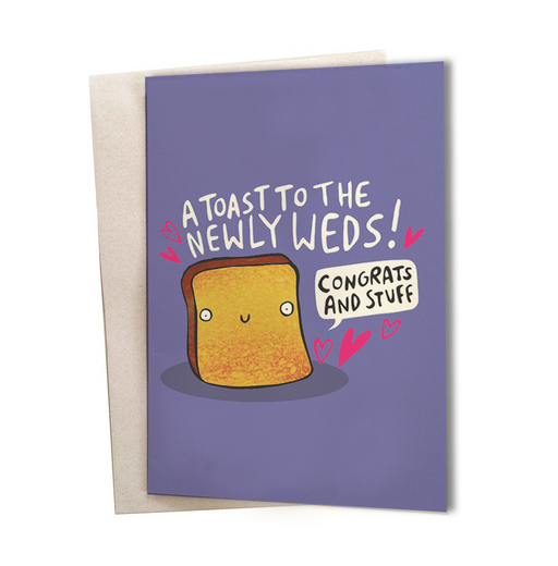 Wedding card - A toast to the newly weds Greeting Card