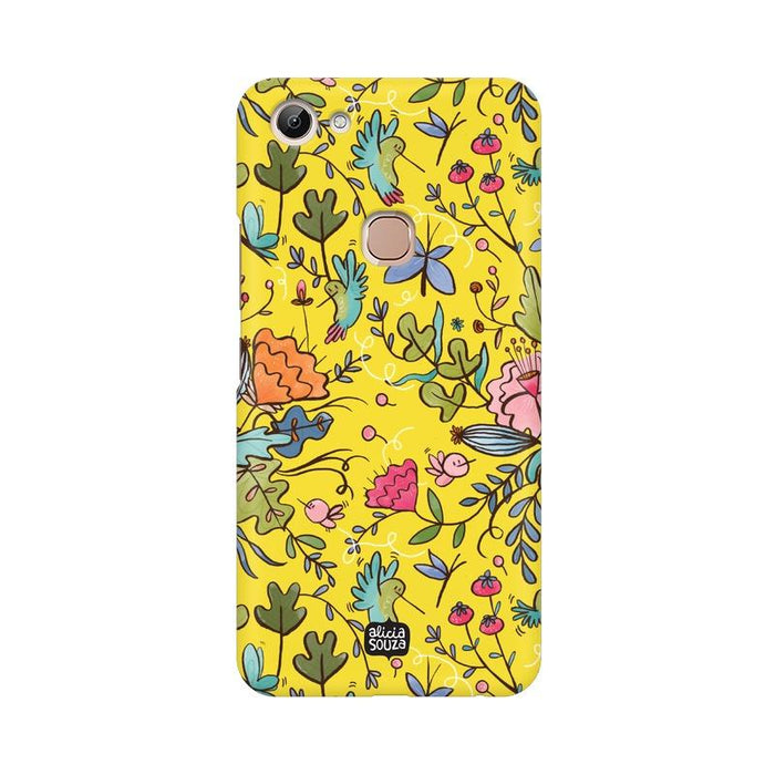 Humming Bird - Yellow - Vivo Y83 Phone Cover