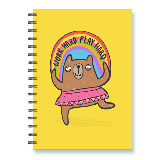 Work Hard Play Hard Notebook