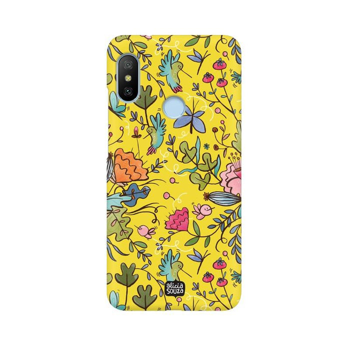 Humming Bird - Yellow - Mi A2 Lite Phone Cover