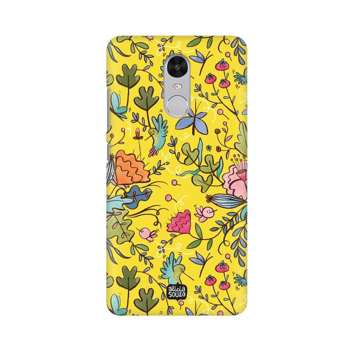 Humming Bird - Yellow - Redmi Note 4x Phone Cover