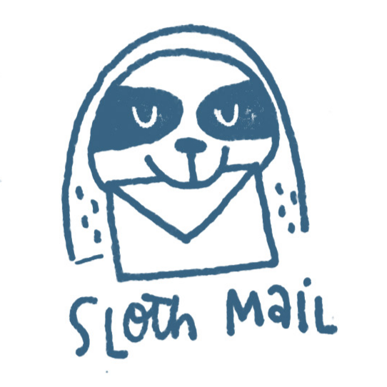 Sloth Mail Stamp