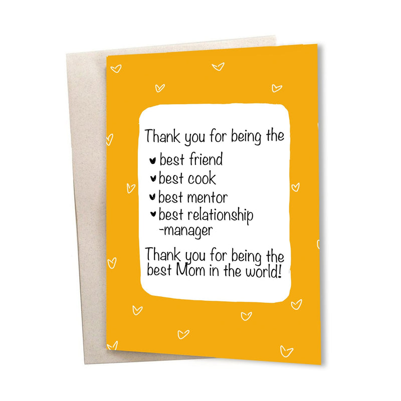 Thank you, Mom - Greeting Card - A6 size