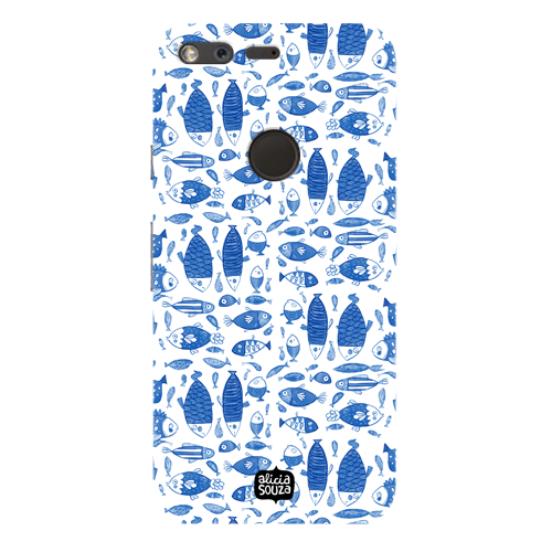 China Blue Fish - Google Pixel Phone Cover