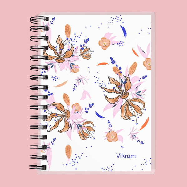 Custom Name Floral Kids Planner