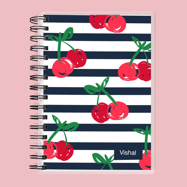 Custom Name Cherries Kids Planner
