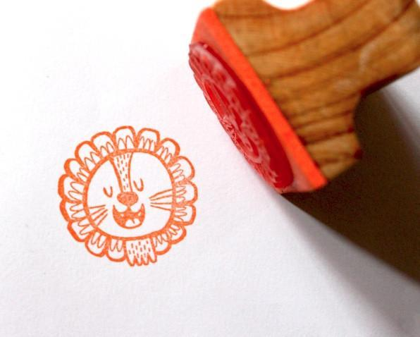Happy Lion Stamp