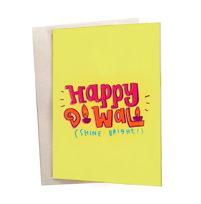 Shine Bright Diwali Greeting Card