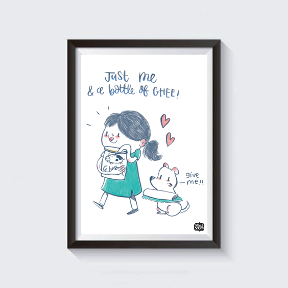 Ghee love Wall Art