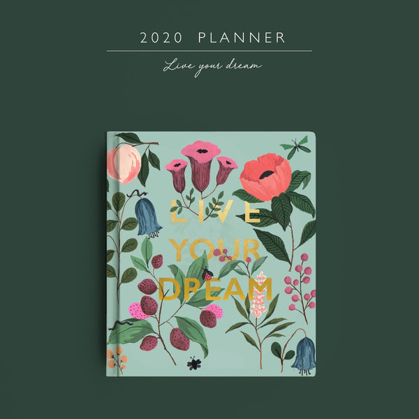 2020 Planner | Live Your Dream | Pre-Order - TheInkBucketstore
