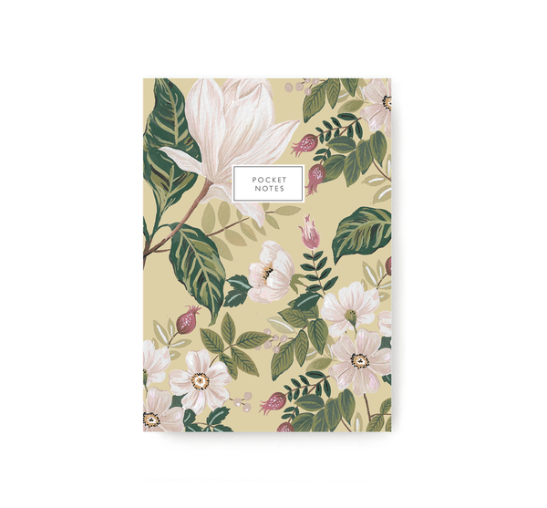Beige Flower Bunch Pocket Notebook - TheInkBucketstore