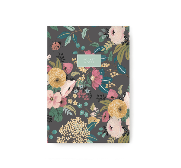 Brown Garden Pocket Notebook - TheInkBucketstore