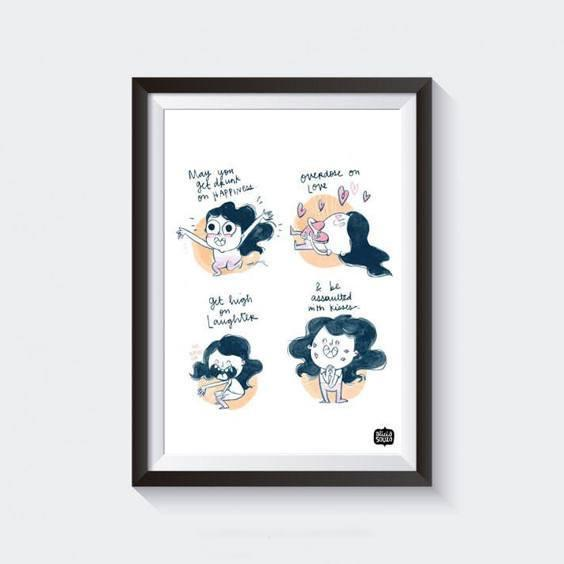 Prints - Happy Girl Wall Art