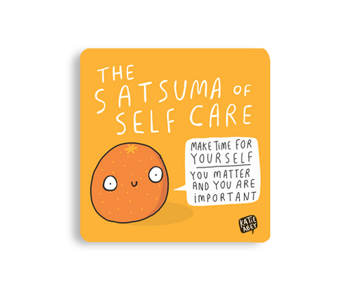 The Satsuma of Self Care Coaster