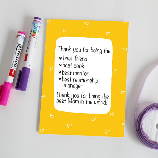 Thank you, Mom - Greeting Card - A5 size