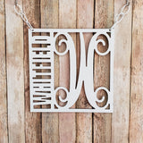 Monogrammed Garden Flag Style Yard Sign