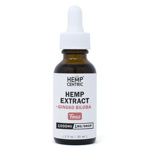 FOCUS | Hemp Extract with Ginko Biloba Extract Tincture (30ml)