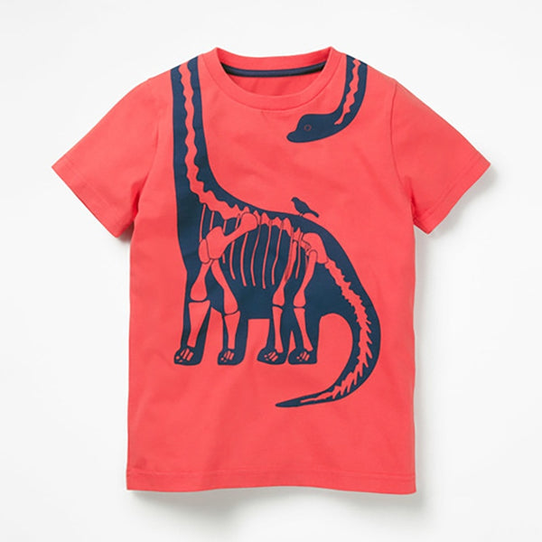 T-Shirt Red Dinosaure