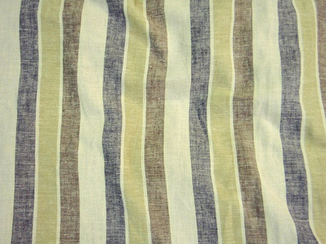 20mm Wide Stripes -  Faux Linen Print