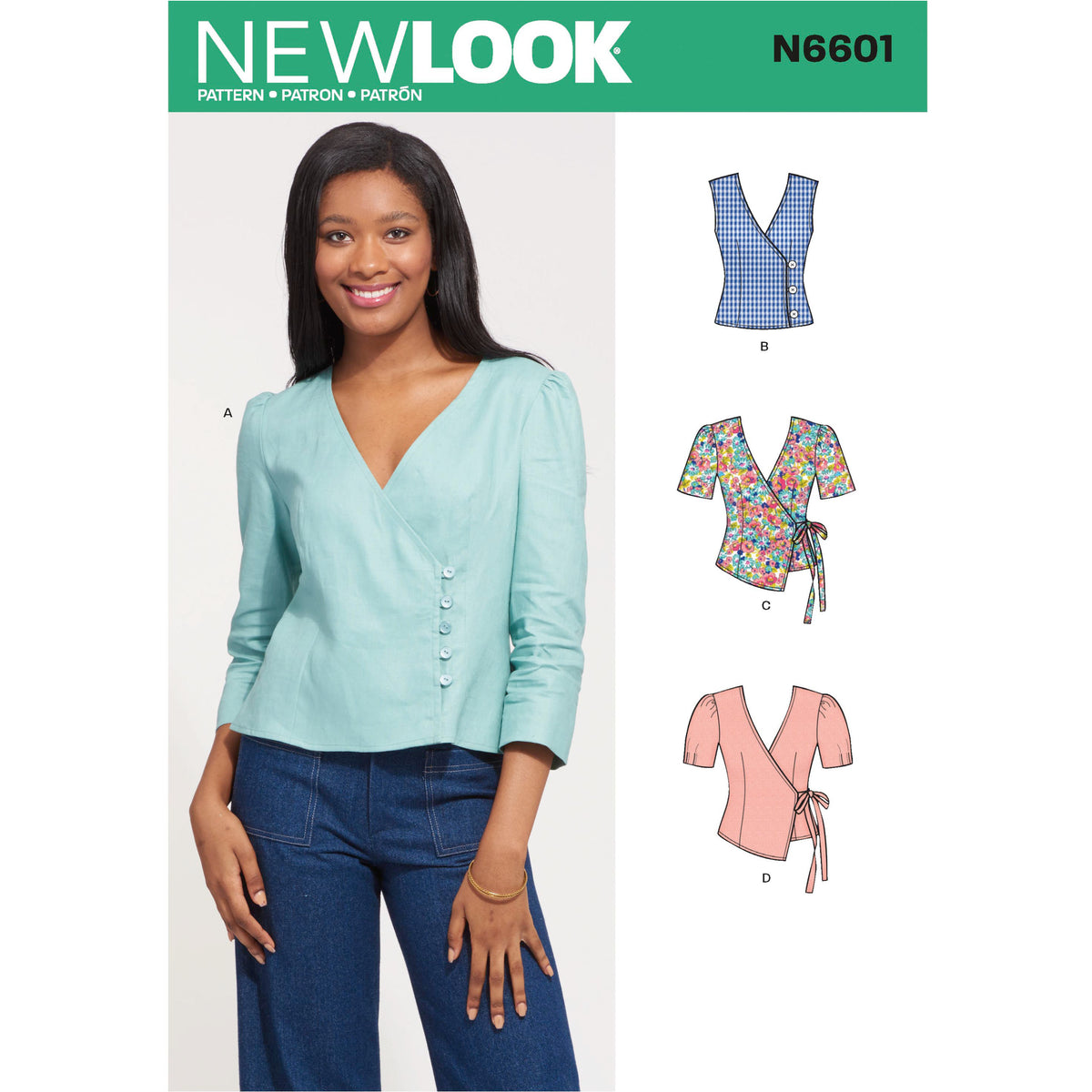 6601 New Look Sewing Pattern N6601 Misses' Tops