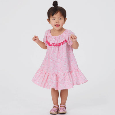 6629 New Look Sewing Pattern N6629 Toddler's Dresses