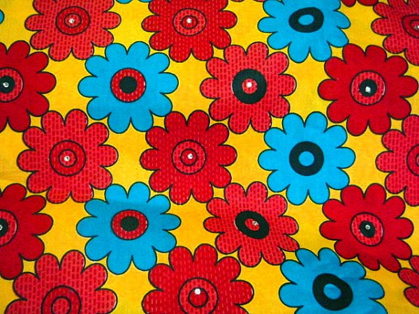 Bold Flower African Wax Print In Yellow