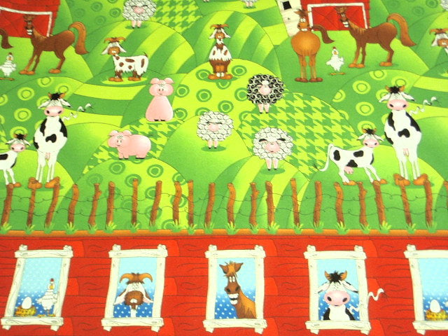Animal Farm - Brushed Cotton Fabric