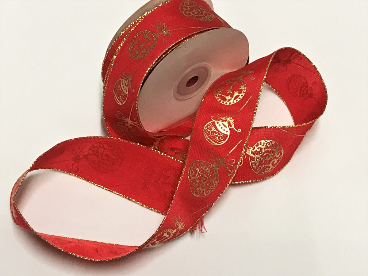 Wired Edge Baubles Ribbon