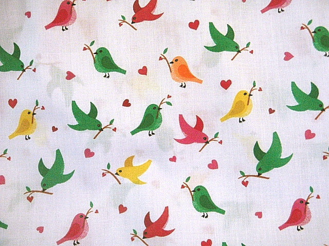 Colourful Birds - Poly/Cotton Print