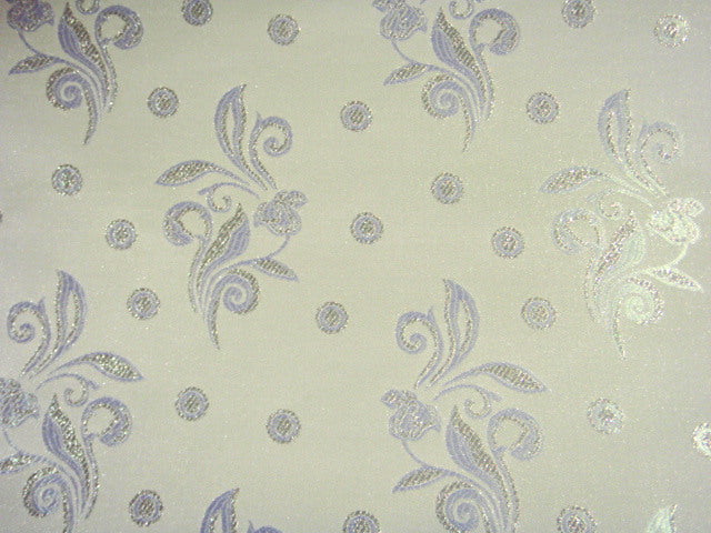 Bridal Brocade Jacquard- Leaves And Dots