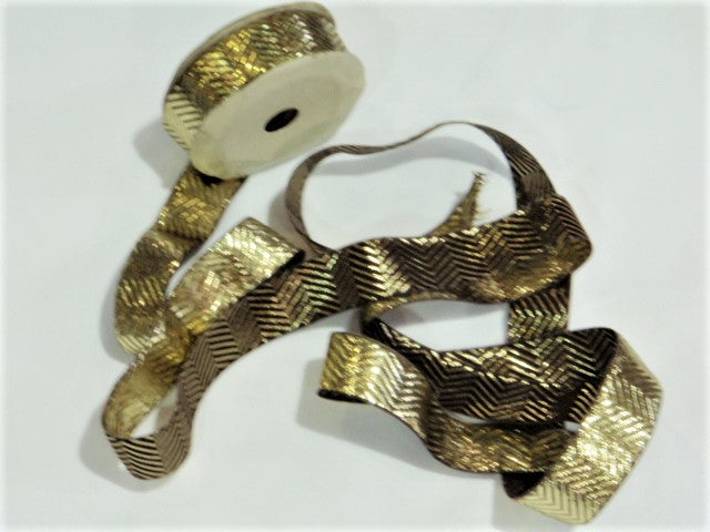 Metallic Ribbon Reel - Chevron (25mm)