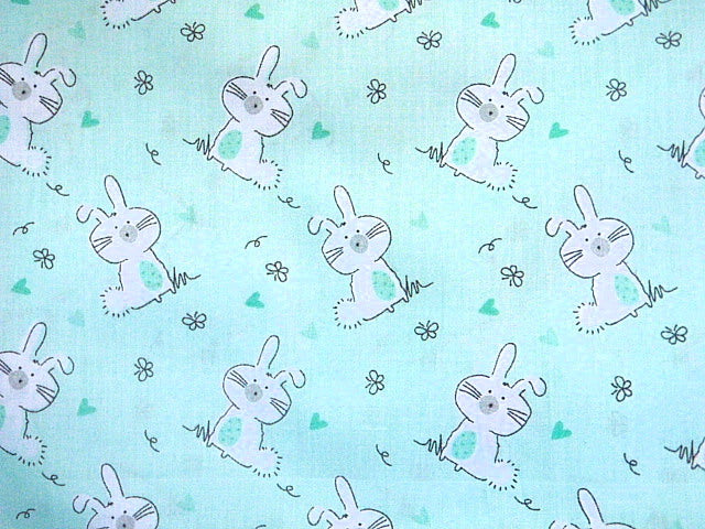Bunnies - Poly/Cotton Print