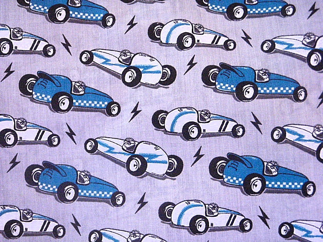Racing Cars - Poly/Cotton Print