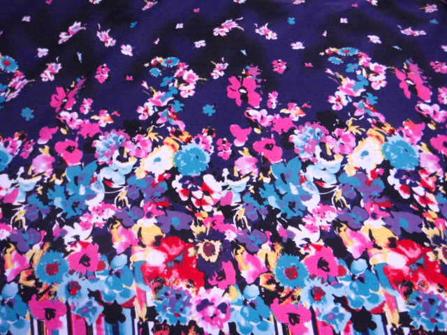 Colourful Floral - Chambray Print