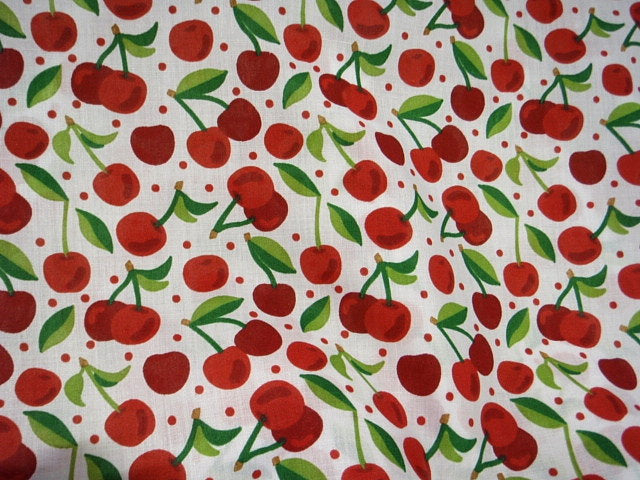 Cherries - Poly/Cotton Print