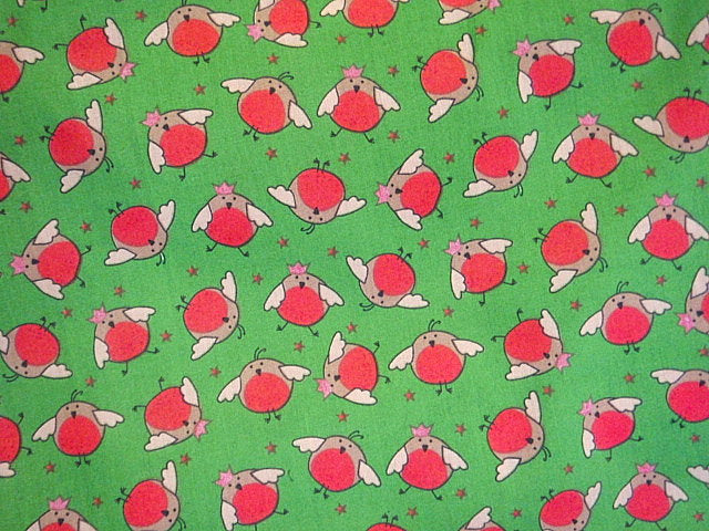 Christmas Robin - Poly/Cotton Print