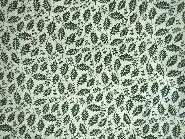 Christmas Holly - Poly/Cotton Print