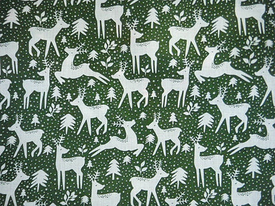 Christmas Reindeer - Poly/Cotton Print