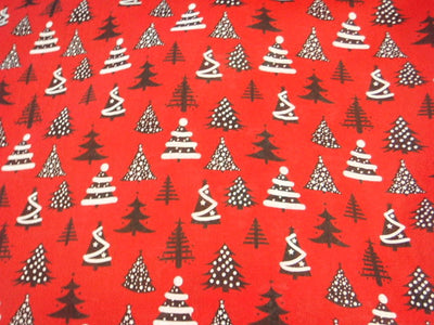 Christmas Trees - Poly/Cotton Print