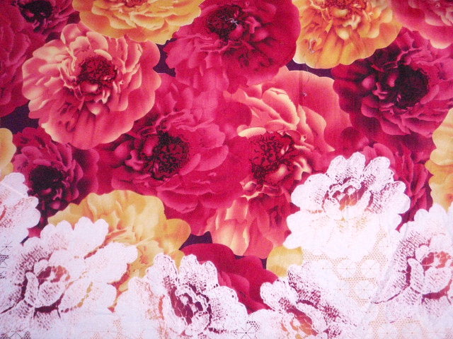Cerise Flower - Clearance Cotton Print