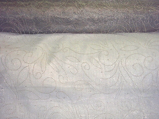 Dew Drop Embossed Organza